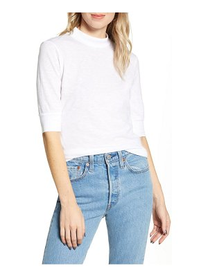 Stateside slub mock neck top