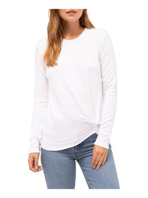 Stateside twist front fleece sweatshirt