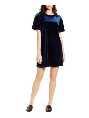 Stateside velvet shift dress