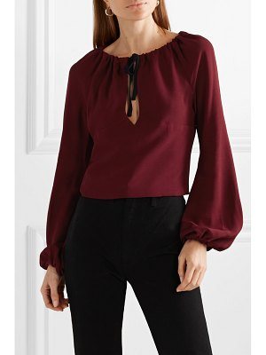 STAUD astoria cutout crepe top