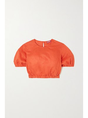 STAUD athena cropped linen top