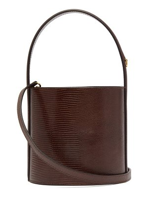 STAUD bissett lizard effect leather bucket bag