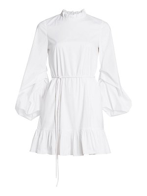 STAUD carolina puff-sleeve a-line dress