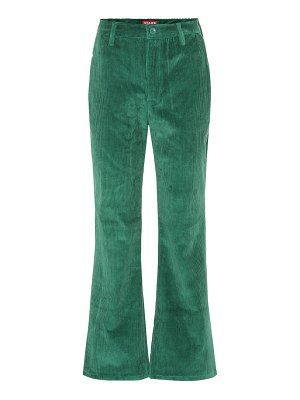 STAUD cropped high-rise flared pants