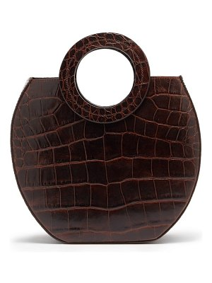 STAUD frida crocodile effect leather tote bag