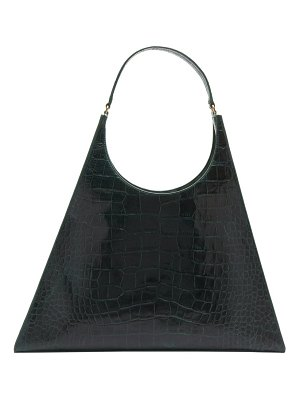 STAUD large rey crocodile effect leather bag