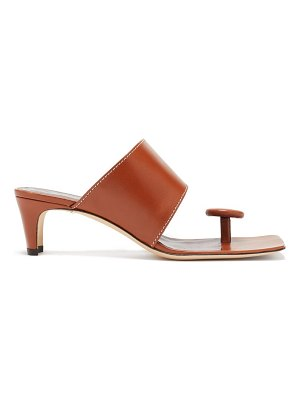 STAUD luca button toe-post leather sandals
