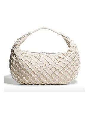 STAUD Luna Large Netted Vegan Shoulder Bag