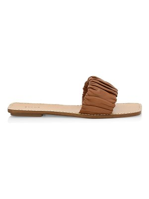 STAUD nina ruched leather sandals