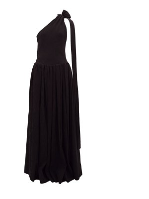 STAUD one-shoulder ribbed-jersey maxi dress