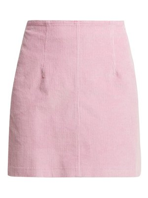 STAUD Phoebe Corduroy Mini Skirt