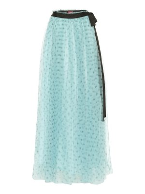STAUD poppy tulle maxi skirt