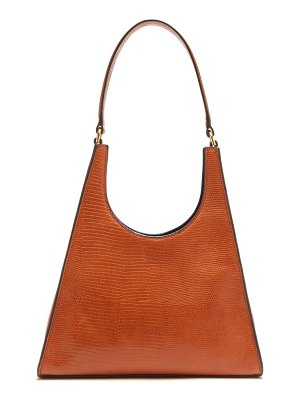 STAUD rey lizard effect leather shoulder bag