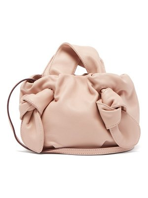 STAUD ronnie knotted leather bag