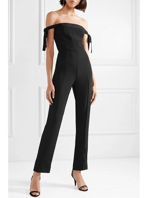 STAUD rosa off-the-shoulder crepe jumpsuit