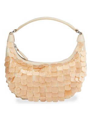 STAUD Sasha Mini Mother-of-Pearl Crossbody Bag