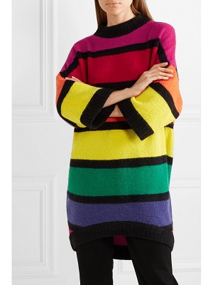 STAUD shawn oversized striped knitted sweater