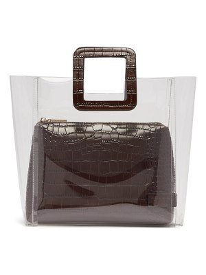STAUD Shirley Pvc And Crocodile Effect Leather Tote