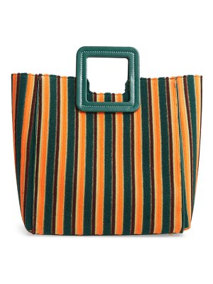 STAUD shirley stripe terry satchel