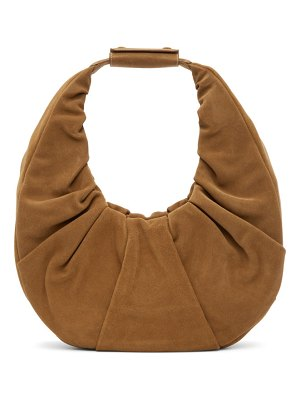 STAUD suede large soft moon bag