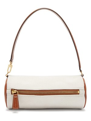 STAUD suzy canvas and leather shoulder bag