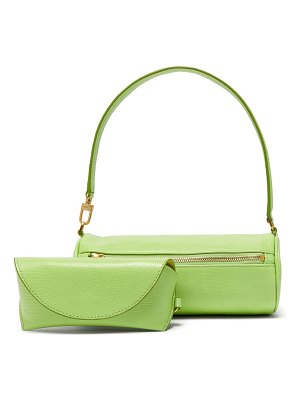 STAUD suzy lizard effect leather shoulder bag