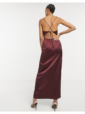 Steele hayden maxi dress in brown