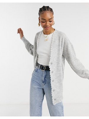 Steele liam oversized cardigan in gray-grey