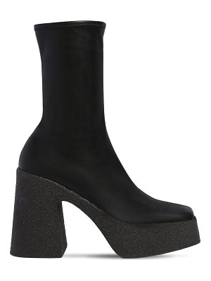Stella McCartney 110mm faux stretch leather ankle boots