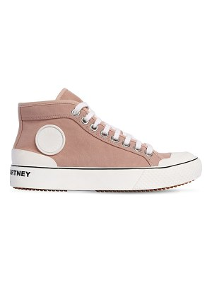 Stella McCartney 20mm high top cotton canvas sneakers