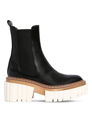 Stella McCartney 60mm faux patent leather ankle boots