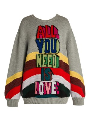 Stella McCartney all together now all you need is love crewneck sweater