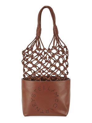 Stella McCartney Alter Napa Knotted Bucket Tote Bag