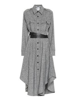Stella McCartney asymmetric wool midi shirt dress