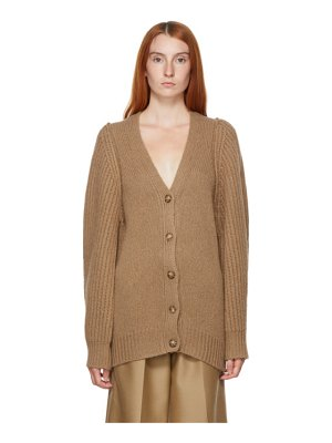 Stella McCartney beige puff sleeve cardigan