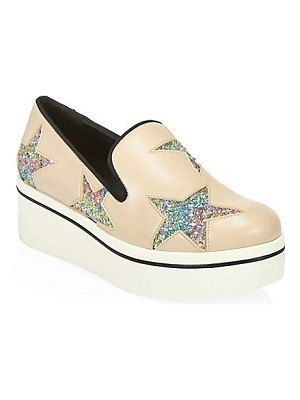 Stella McCartney binx rainbow glitter star platform sneakers