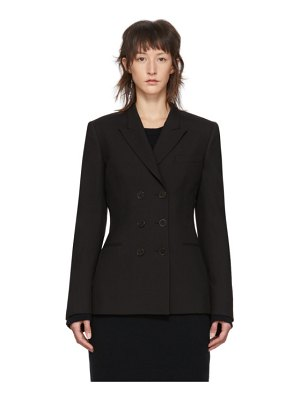 Stella McCartney black wool double-breasted blazer