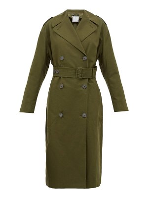 Stella McCartney belted cotton canvas trench coat