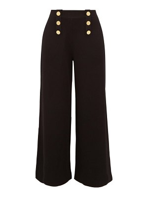 Stella McCartney button embellished wide leg trousers
