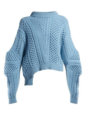 Stella McCartney cable knit cropped sweater