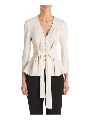 Stella McCartney cady peplum stretch blouse