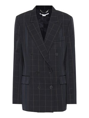 Stella McCartney checked double-breasted wool blazer