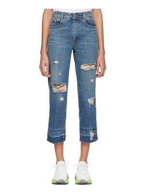 Stella McCartney Cropped Destroyed Jeans