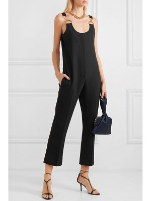 Stella McCartney cropped embellished stretch-cady jumpsuit