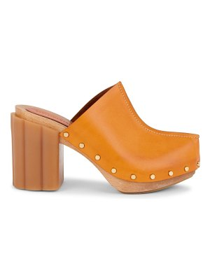 Stella McCartney daisy block-heel clogs