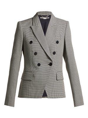 Stella McCartney double breasted houndstooth wool jacket