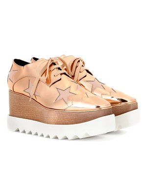 Stella McCartney elyse metallic platform derby shoes