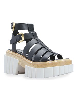 Stella McCartney Emilie Vegan Leather Gladiator Sandals