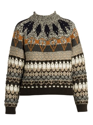 Stella McCartney fair isle mockneck sweater