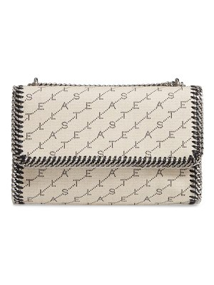 Stella McCartney falabella logo canvas shoulder bag